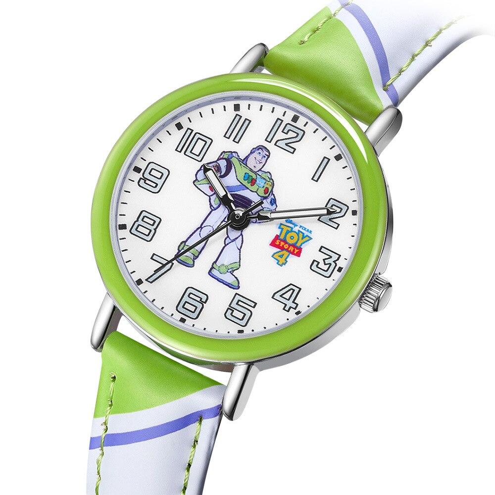 Disney Brand Children Wristwatches Quartz Leather Waterproof Cartoon Toy Story Boy Girl Watches