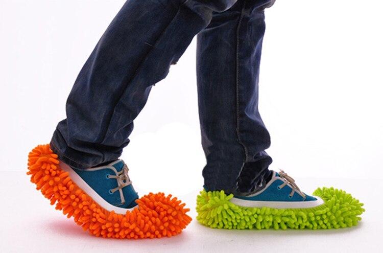 1Pc Lui Floor Afstoffen Cleaning Foot Schoen Stofkap Mop Slipper Huis Cleaner 21*11Cm