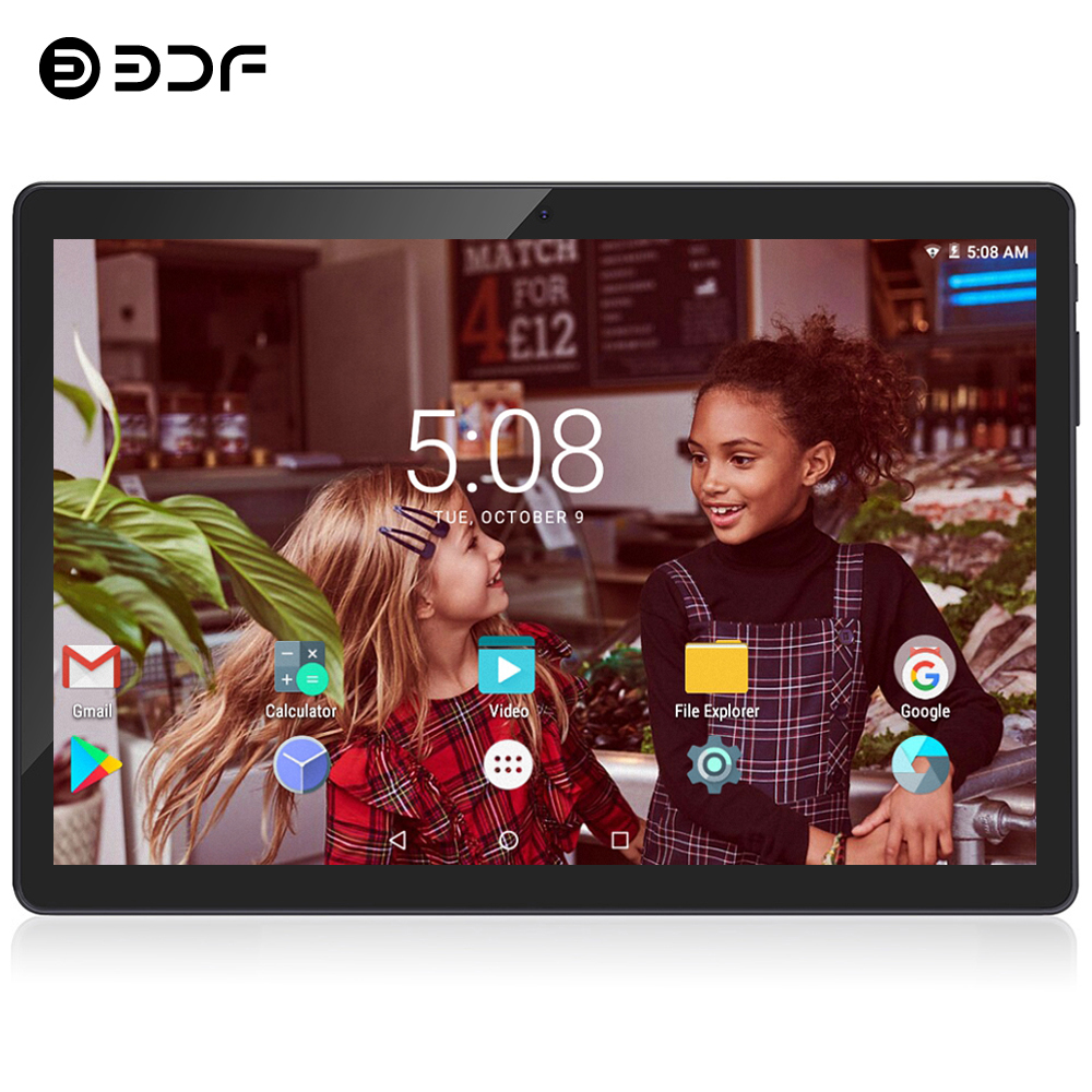 BDF Android 7.0 Tablet Pc 10 Inch 3G Mobile Sim Card Phone Call Android 7.0 Tablet Pc 1GB+32GB Quad Core Tablets Pc image