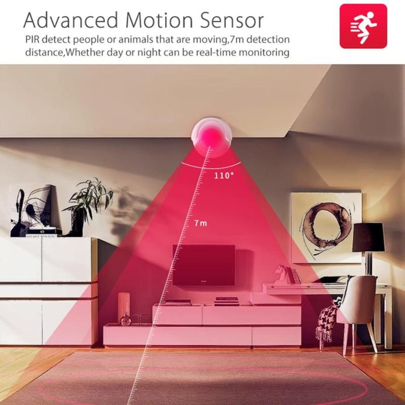 PIR Motion Sensor WiFi Wireless Passive Infrared Detector Security Burglar Alarm APP Voice Control Intelligence System