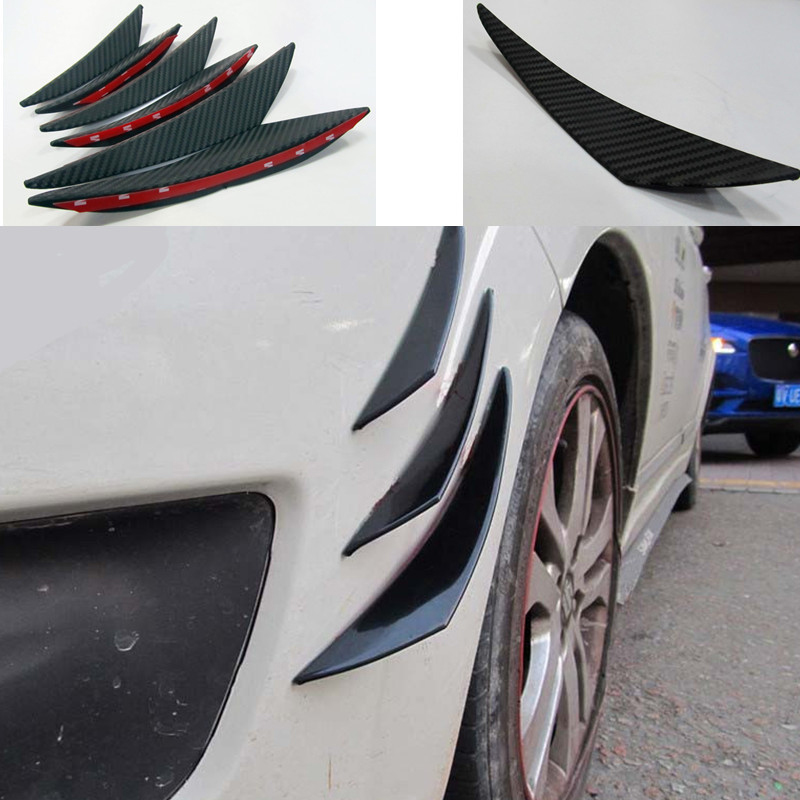 6PCS Rubber Car <font><b>Front</b></font> <font><b>Bumper</b></font> Lip Splitter Body Spoiler For Hyundai Creta Tucson <font><b>VW</b></font> <font><b>Golf</b></font> 6 <font><b>7</b></font> <font><b>GTI</b></font> Kia Ceed Rio Sportage 2017 image