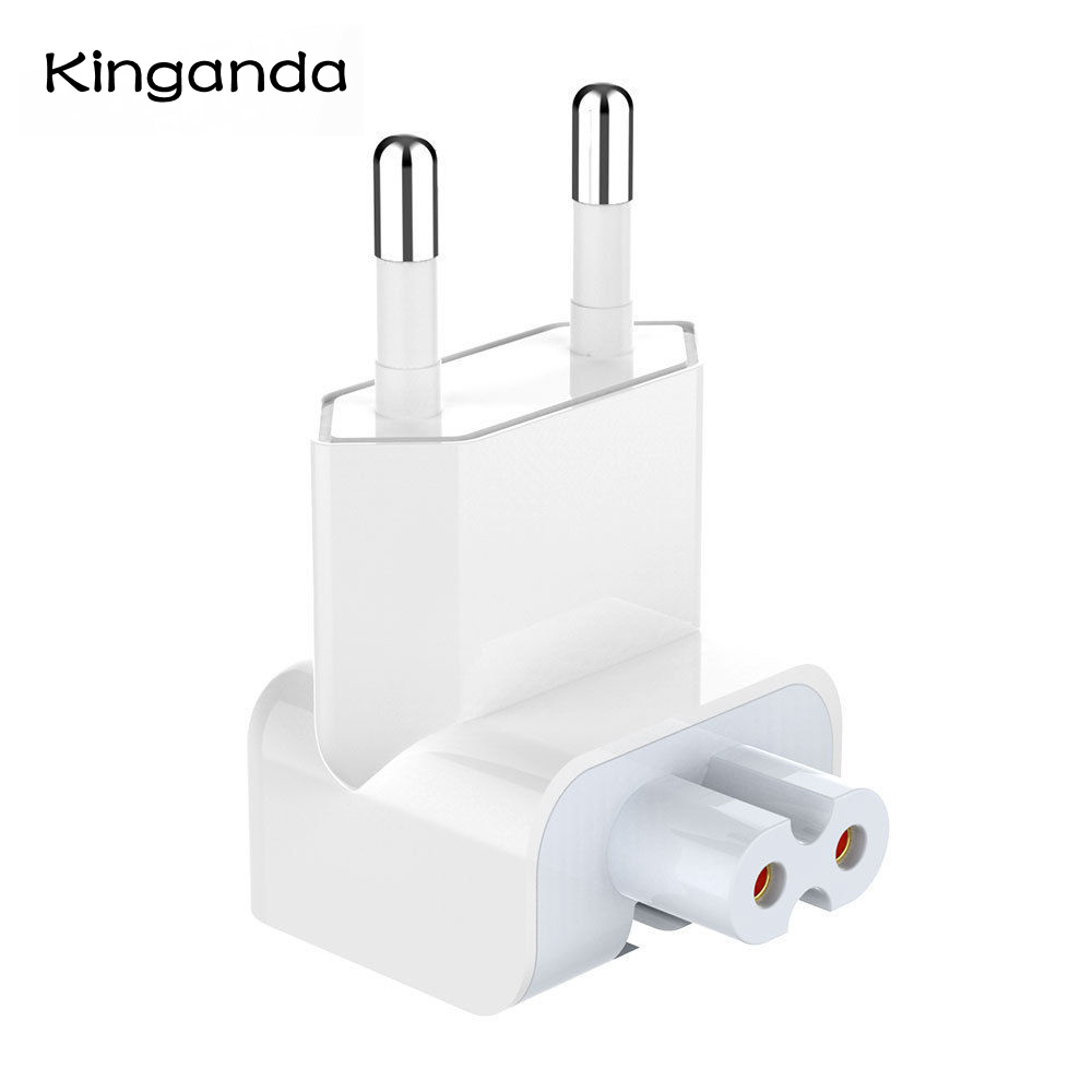 Euro Plug <font><b>AC</b></font> Duck Head for iPad Air Pro MacBook charger Suit for MagSafe 2 Wall Charge Power <font><b>Adapter</b></font> EU European Pin Plug image