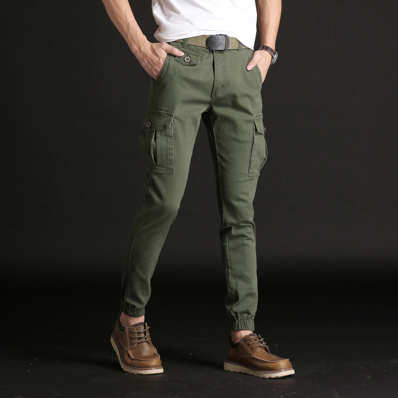 KSTUN Casual Pants Men Stretch Cargo Pants Military Tactical Joggers Side Pocket Fashions Black