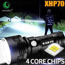 Супер мощный xhp70 l2 светодиодный тактический фонарь usb Перезаряжаемый