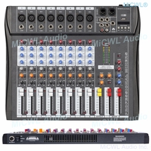 MiCWL 8 Channel Mixing Console Bluetooth Record 3 BAND EQ DSP Effect Professional USB 48V Audio Mixer For Karaoke KTV Party