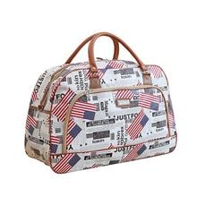 JULY'S DOSAC Travel Luggage Bag PU Meterial Big Capacity Printed Suitcase Portable Plane Use Duffle
