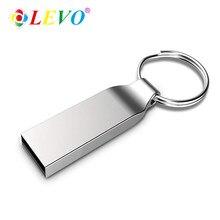Metal prata USB 2.0 GB pendrive de Alta Velocidade flash drive GB 16 32 64GB 128GB de Memória flash drive USB com chaveiro