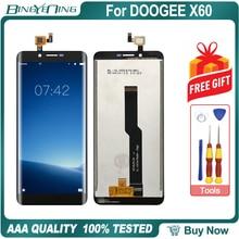 عالية الجودة ل DOOGEE X60 LCD و محول الأرقام بشاشة تعمل بلمس مع الإطار وحدة شاشة عرض إصلاح استبدال الملحقات أجزاء