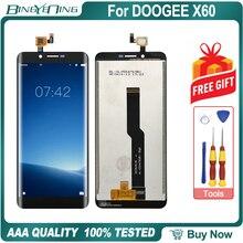 Hohe Qualität Für DOOGEE X60 LCD & touchscreen Digitizer mit rahmen display Screen modul Reparatur Ersatz Zubehör Teile