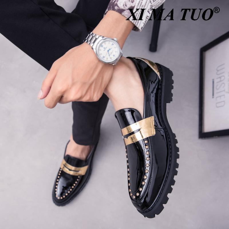 Fashion outdoor Leather Casual Loafers Men Comfortable men Shoes Man Leather working Business Slip-On dressing Shoes men w5