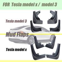 Mud flaps For Tesla model 3 mudguards X fenders splash MUD guands Car Fenders Accessories Guards Rear Front