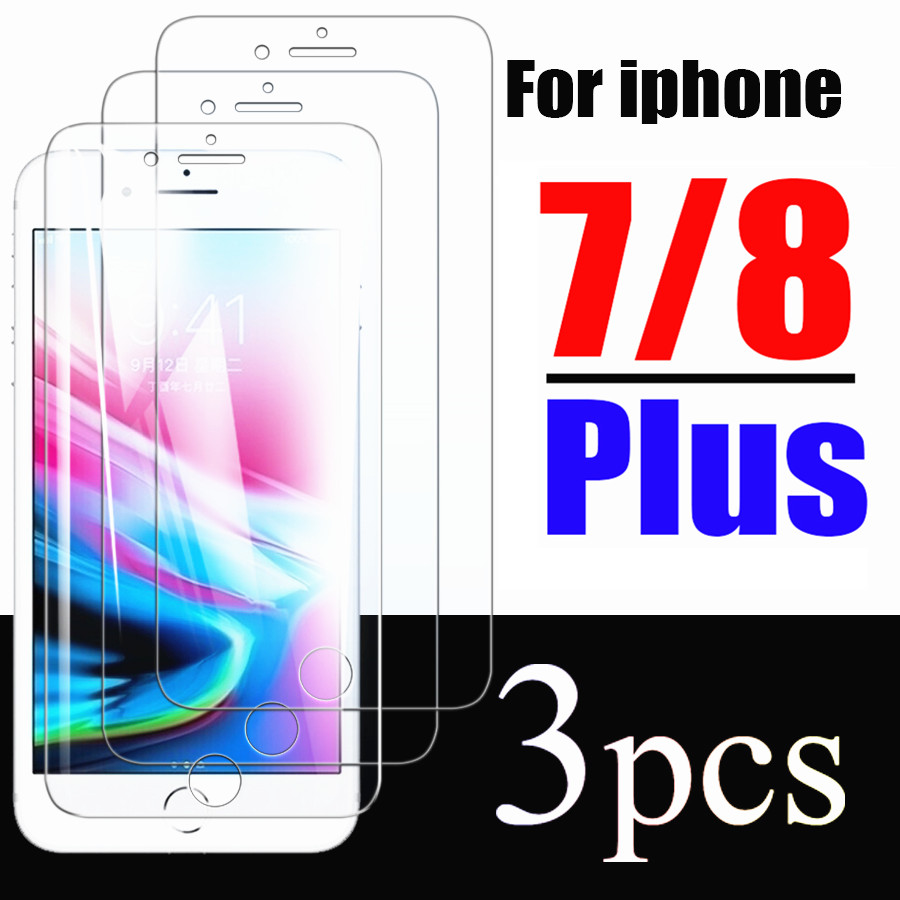 Glass For Iphone 7 8 Plus Screen Protector Armor 7plus 8plus Protective Tempered Glas I7 I8 Iphone7plus I Phone Film 1 2 3 Pcs
