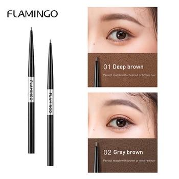 Flamingo Black Fine Professional Eyebrow Pencil Waterproof Long-lasting Waterproof Not Easy to Discolor Eyebrow Brown Gift b1022