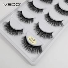 YSDO 5 paia ciglia di visone 3d ciglia di visone lunghe naturali ciglia estensione ciglia maquillaje faux cils volume ciglia finte G5