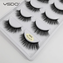 YSDO 5 pairs 3d vizon kirpik doğal uzun vizon kirpik lashes maquillaje kirpik uzatma sahte cils hacim yanlış eyelashes G5