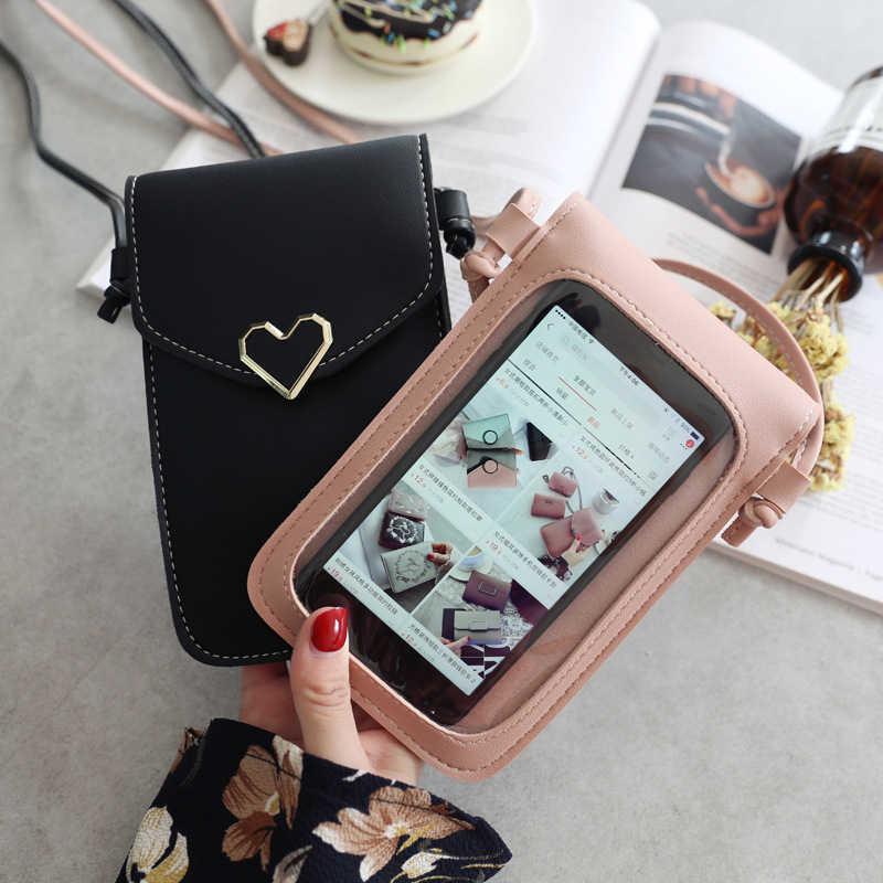 Điện Thoại Di Động Túi Túi Nữ Thời Trang Da PU Tế Bào Vỏ Điện Thoại Cô Gái Vai Dành Cho iPhone Samsung Huawei Xiaomi danh Dự