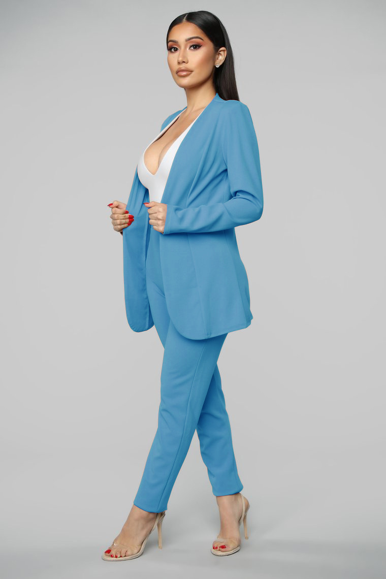 New Spring Fall Female Solid Candy Color V Neck Sexy Blazer Pant 2 Piece Suit  Outwear Lady Casual Slim Elegant Women's Suits