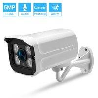 Hamrolte ONVIF telecamera IP 5MP telecamera esterna impermeabile Auido Record Motion Detection XMeye Cloud telecamera di sicurezza CCTV H.265