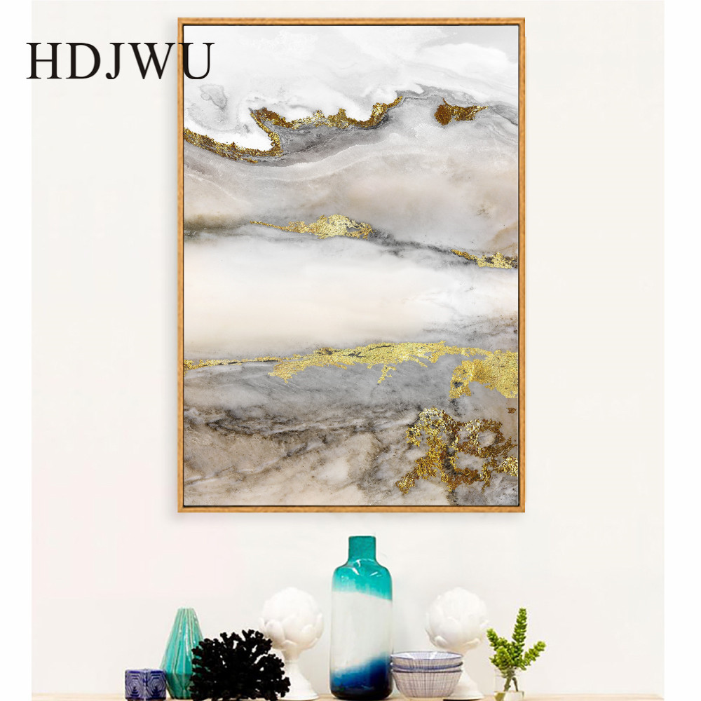 Modern Abatract Art Canvas Painting Wall Picture Home Printing Posters for Living Room DJ492