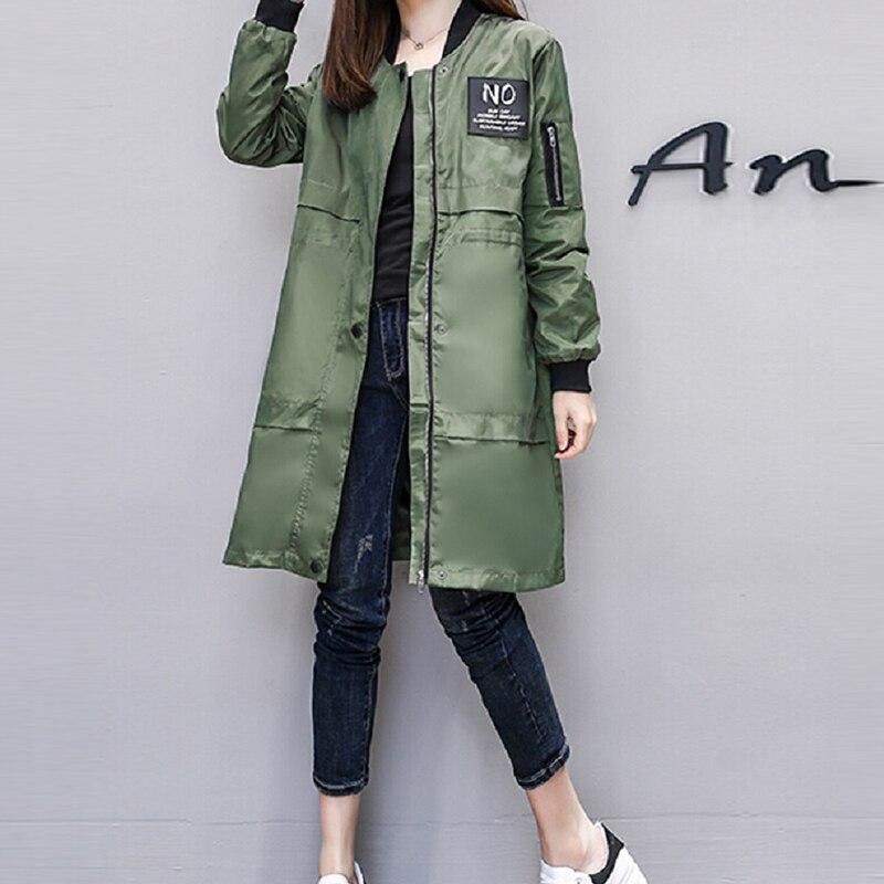 Trench Coat For Women Streetwear Long Sleeve Zipper Female Spring Raincoats Casaco Feminino Moletom Army Green Women's Clothing