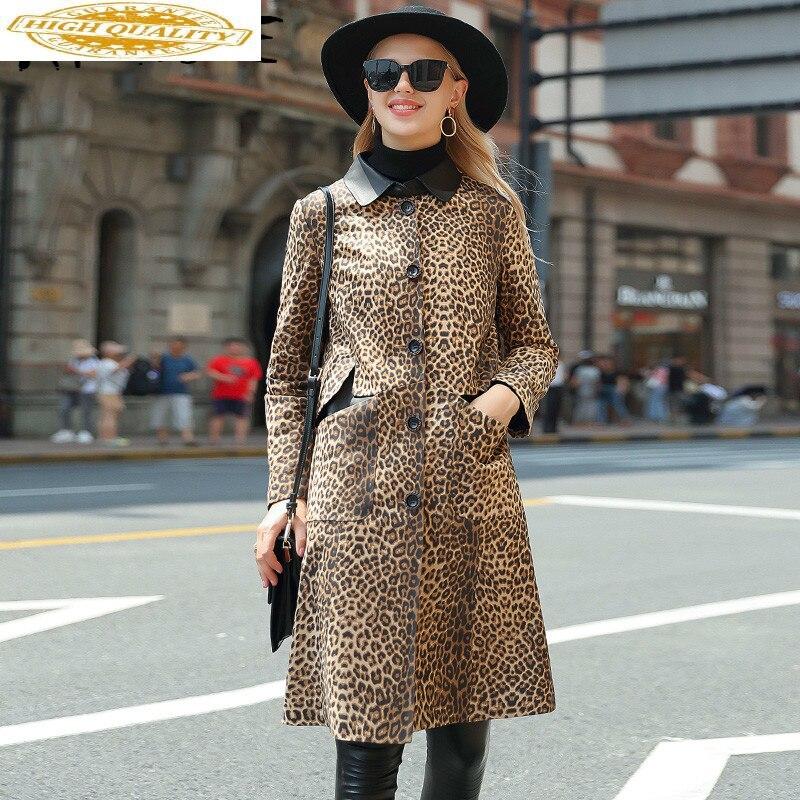 Real Leather Jacket Women Clothes 2019 Sheepskin Genuine Leather Jacket Korean Women Windbreaker Chaqueta Mujer SM20117 YY2155