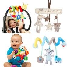 Miękkie łóżeczko dziecięce do łóżeczka wózka zabawka spiralna zabawka dla dziecka dla noworodków fotelik samochodowy edukacyjne grzechotki ręcznik dla niemowląt zabawka dla dziecka s 0-12 miesięcy