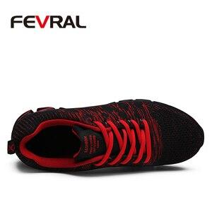 Image 2 - FEVRAL ماركة 2020 الصيف تنفس الرجال أحذية رياضية الكبار أحمر أزرق أخضر جودة عالية مريحة عدم الانزلاق لينة حذاء رجالي