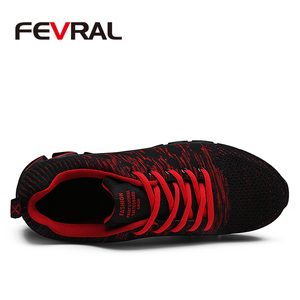 Image 2 - FEVRAL Brand 2020 Summer Breathable Men Sneakers Adult Red Blue Green High Quality Comfortable Non slip Soft Men Shoes