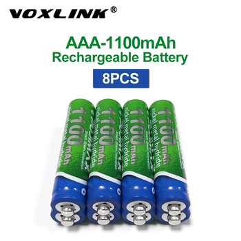 VOXLINK AAA Battery 1.2V 1100mAh 8PCS rechargeable battery pre-charged recharge ni mh rechargeable battery For camera microphone voxlink aaa battery 1 2v 1100mah 8pcs rechargeable battery pre charged recharge ni mh rechargeable battery for camera microphone