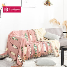 Sondeson/модное Розовое Детское покрывало с кисточками из 100%
