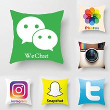 Company Culture Cushion Cover Printing Pillow Case Funny And Interesting Cushion Cover Hot APP Cushion Cover все цены
