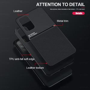Image 3 - حافظة ممغنطة للسيارة لهواتف شاومي بوكو m3 برو 5G حافظة جلدية الملمس سيليكون غطاء مقاوم للصدمات لبوكوفون m3 متر 3 برو كوك