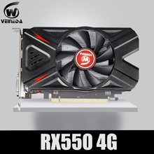 VEINEDA 비디오 카드 Radeon RX 550 4GB GDDR5 128 비트 게임용 데스크탑 컴퓨터 비디오 그래픽 카드 Amd 카드 용 PCI Express3.0