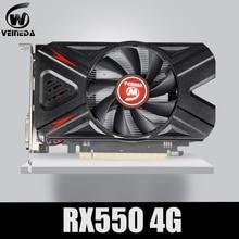 VEINEDA Video Card Radeon RX 550  4GB GDDR5 128 bit Gaming Desktop computer Video Graphics Cards PCI Express3.0 For Amd Card
