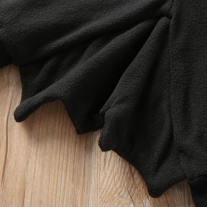 Baby Halloween Clothing Autumn Cartoon Print Bat Hooded Jacket Boy Girl Cotton Cosplay Clothes 6