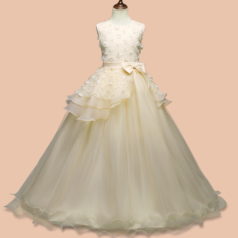 Children's Clothing Hot Selling Girls Dress Lace Dress Princess Dress Western Style Dress Children's