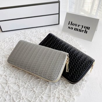 Women Leather Wallet Long Clutch Wallets Money Phone Pocket Zipper Wallets Female Large Capacity Card Holder Purse bentoy embroidery candy women clutch wallet hologram zipper leather wallet female metallic purse large organize bank card holder