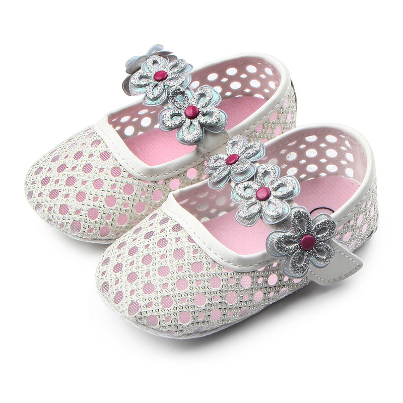 Mesh Flower Baby Girl Shoes Soft Sole Newborn Toddler Shoes Non-Slip Infant Girls Shoes First Walkers Schoenen Slofjes