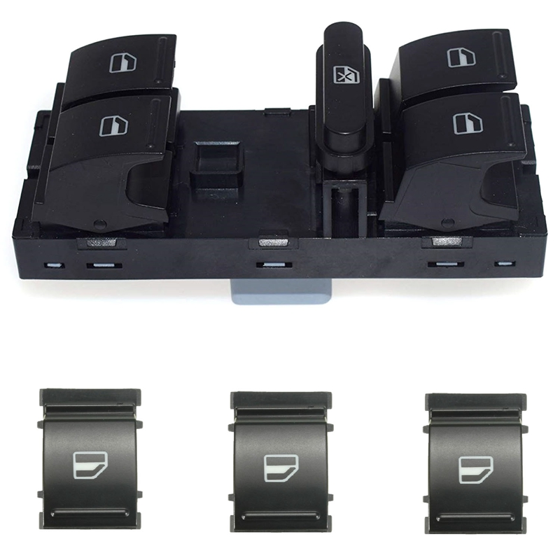 Electric Power Master Window Switch Button Set For Sagitar Golf 5 Golf 6 Je Tta MK5 Mk6 Tiguan Touran Passat B6 B7 1K4959857B 1F
