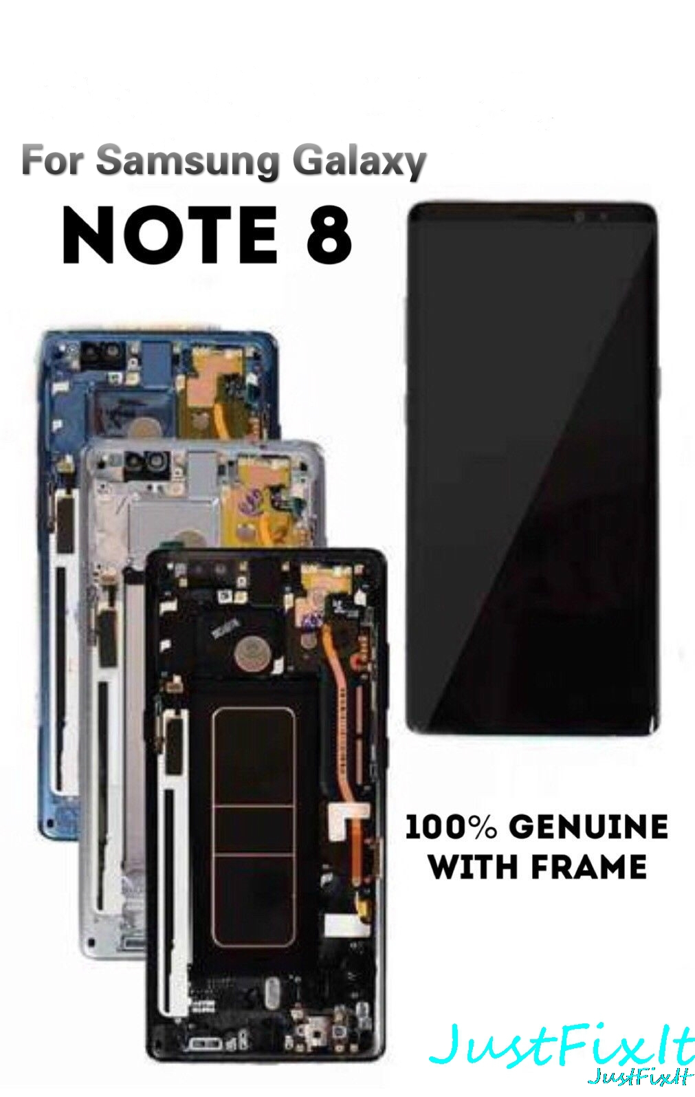 Original With Shadow For Samsung Galaxy Note 8 Lcd Display Touch Screen Digitizer Assembly With Frame N950F Note8 Super Amoled