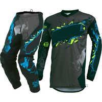 MX Racing Element Villain Gray motocross dirt bike gear - Jersey Pants combo