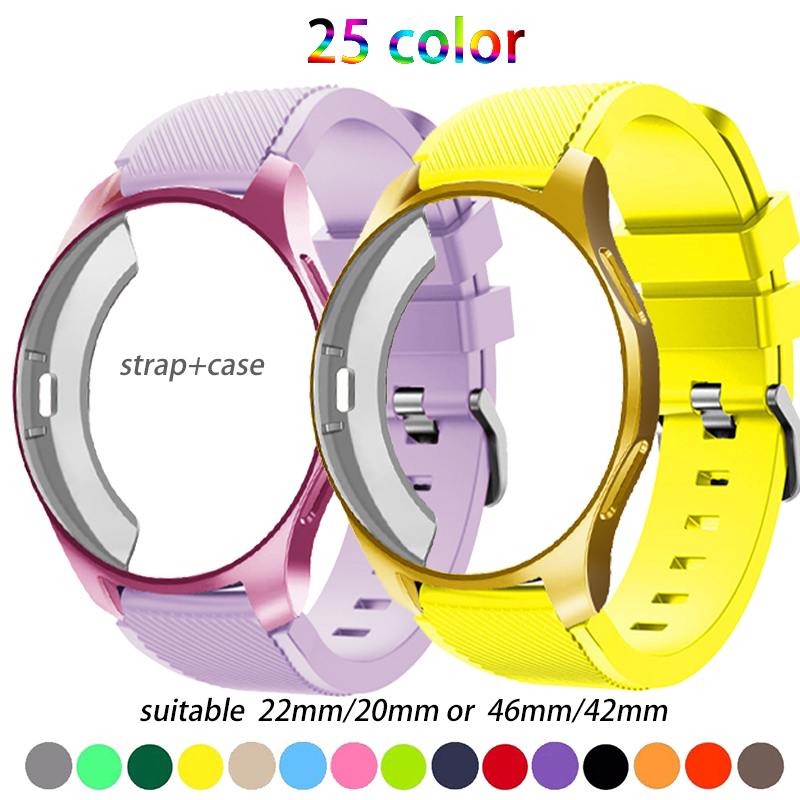 Band+Case For Samsung gear S3 Frontier strap Galaxy watch 46mm 42m 22mm watch band All-Around protective watch accessories 20
