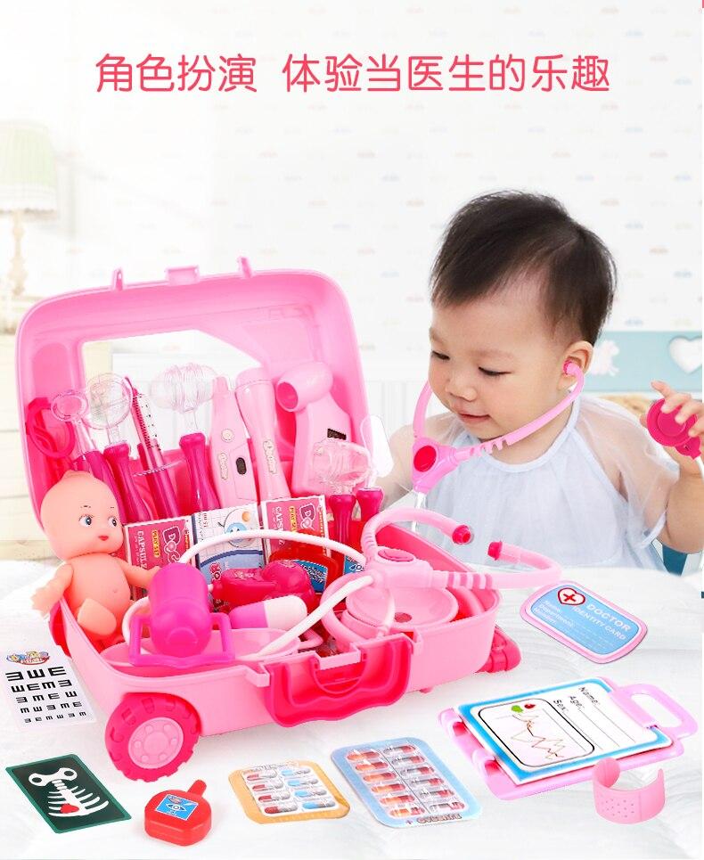 40 pçs crianças doutor brinquedos enfermeira fingir