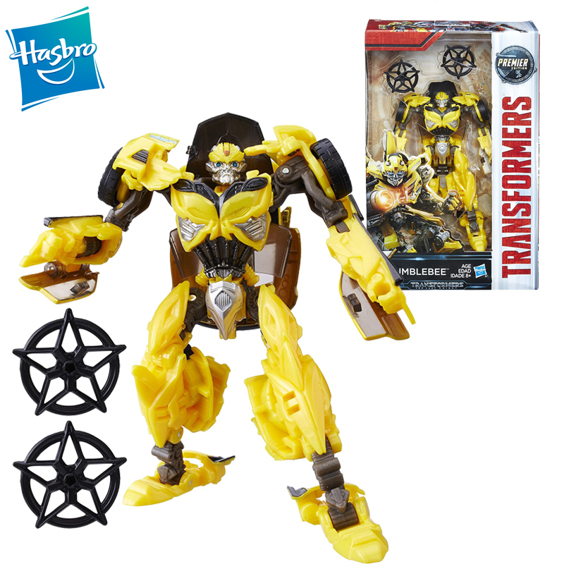 Hasbro Transformers Toys Movie 5 The Last Knight Premier Edition Deluxe Class Bumblebee Action Figure Toy 5.5-inch image