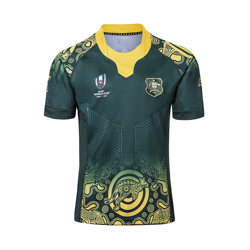 2019 Japan World Cup Australia Home And Away Olive Jersey World Cup Rugby Jerseys