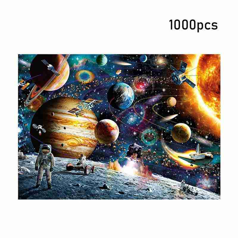 1000 Pieces Space Traveler Jigsaw Puzzles Decompression Gift Toy for Kids Adults