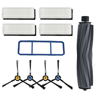 Main Brush Hepa Filter Side Brush Primary Dust Filter Replacement Parts For Chuwi ilife A7 A9S Robot Vacuum Cleaner Accessories 1 main brush 2 hepa filter 4 side brushes for ilife a4 chuwi a4 t4 x432 x430 robot vacuum cleaner parts for kt519 kt 519