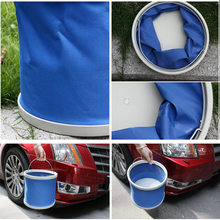 купить 13L blue Car supplies car bucket red Portable Folding Bucket Outdoor Bucket Basin for Camping Hiking Travelling Fishing Washing по цене 595.3 рублей