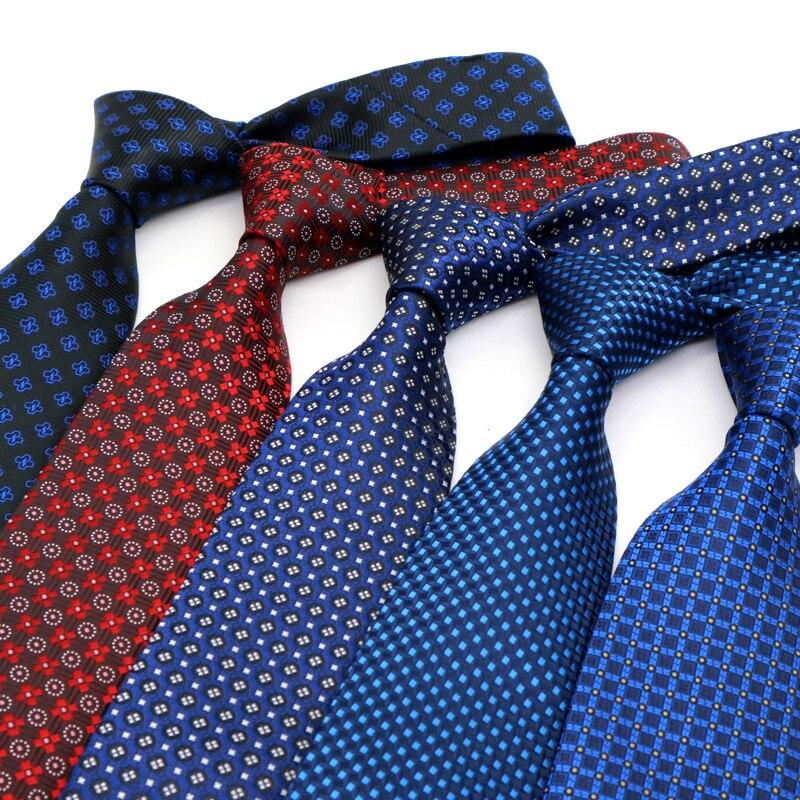 8CM Mens Ties Plaid Necktie  Gravata Corbatas Formal Ties For Men Paisley Cravate Homme Gift For Groom Ties  Wedding Party