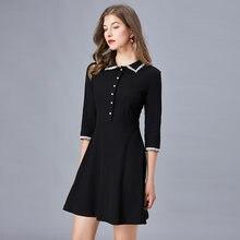 Маленькое черное смарт платье taoyizhuai для женщин на весну